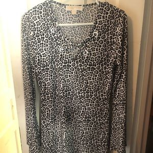Michael Kors leopard print bell sleeve dress